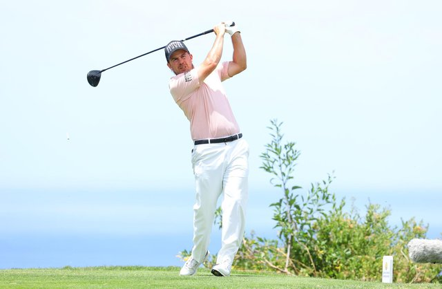 TENERIFE, SPAIN - MAY 07: Richie Ramsay of Scotland tees off on the 6th hole during Day Two of the Canary Islands Championship at Golf Costa Adeje on May 07, 2021 in Tenerife, Spain. (Photo by Andrew Redington/Getty Images)
