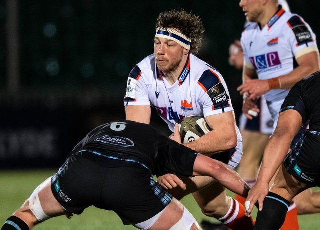 Action from a Glasgow v Edinburgh match as Hamish Watson takes on Ryan Wilson. Both sides will play in the United Rugby Championship next season.