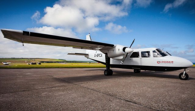 Loganair has used Britten-Norman Islanders for inter-Orkney flights since 1967. Picture: Loganair