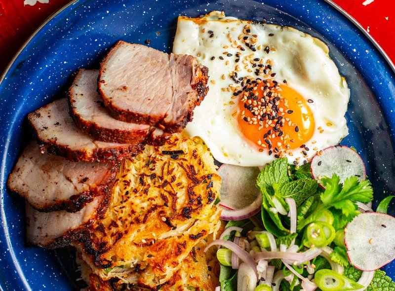 Hanoi Bike Shop will be offering this brand new dish - Vietnamese bacon and eggs, vermicelli noodle cakes, radish and herb salad and sambal - when they reopen on April 26. 8 Ruthven Lane, Glasgow, www.hanoibikeshop.co.uk