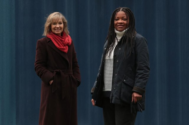 Joy Lewis of AAI EmployAbility and Yvette McLaren. Picture: Stewart Attwood