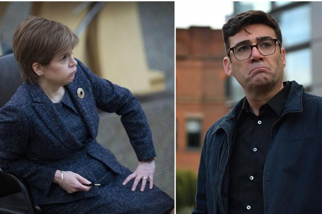 Andy Burnham has hit out at the travel ban announced by Nicola Sturgeon