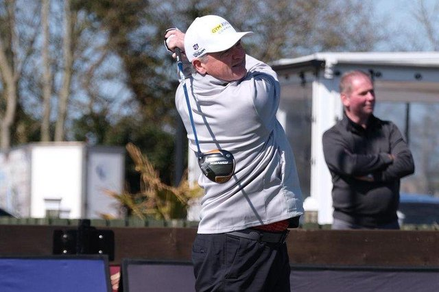 Paul Lawrie gets the 2021 Tartan Pro Tour underway in the opening round of the Montrose Links Masters. Picture: Tartan Pro Tour