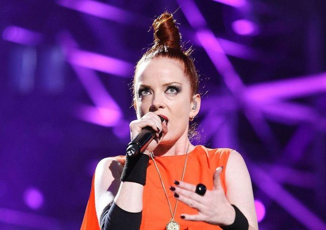 Edinburgh-born singer Shirley Manson performs with Garbage.