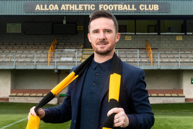 Barry Ferguson is unveiled as the new manager of Alloa Athletic at the Indodrill Stadium.  (Photo by Mark Scates / SNS Group)