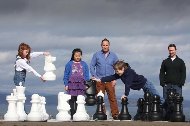 Skyscanner founder Gareth Willams and Andrew Green are tyring to get more people into playing chess in Scotland