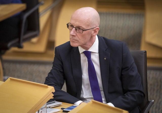 Deputy First Minister John Swinney may not be education secretary for much longer.