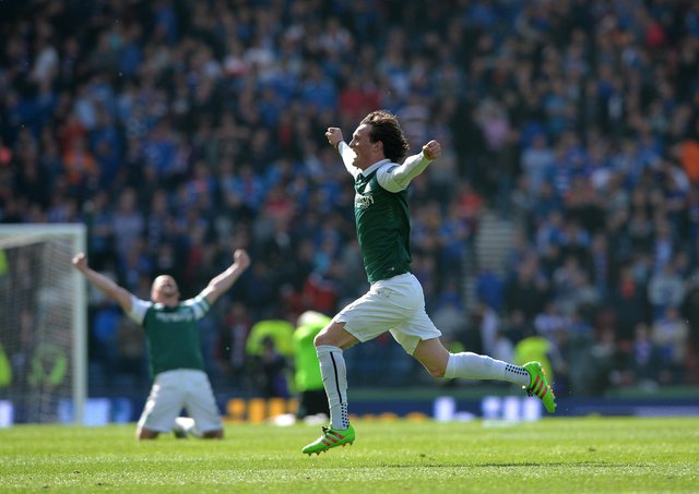 I saw this man (Liam Henderson) deliver the ball onto the baldy heid of the other man (David Gray). I don't need any more excitement. Picture: Mark Runnacles/Getty Images