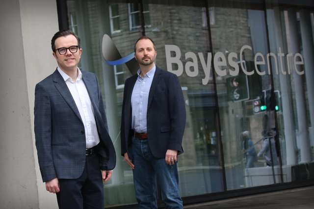 Michael Rovatsos of Bayes Centre and Neil Norman of Chiene + Tait. Picture: Stewart Attwood