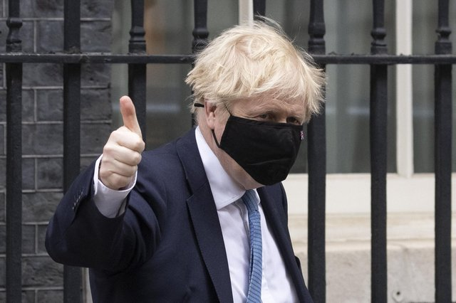 Prime Minister Boris Johnson leaves 10 Downing Street to deliver a statement in the House of Commons on May 12, 2021 in London. Picture: Dan Kitwood/Getty Images