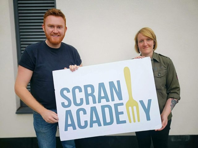 John Loughton and Fiona Donaldson. Picture: Scran Academy.