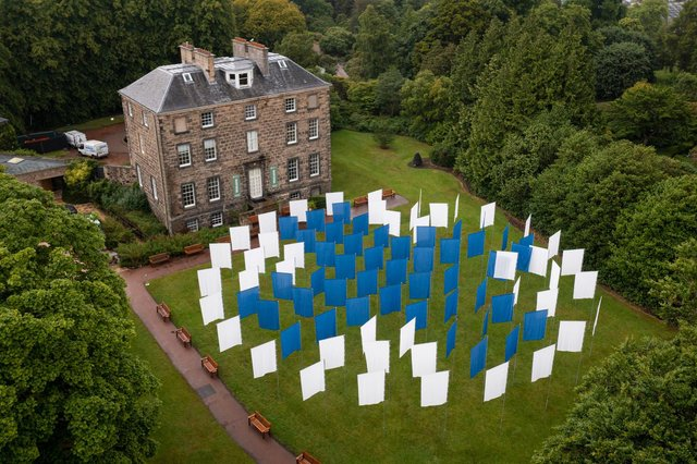 The installation represents all those lost.
