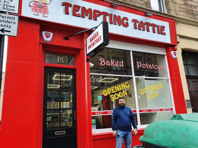 Sam Ibrahim, new owner of much-loved Edinburgh cafe Tempting Tattie, reopened the site on 15th October