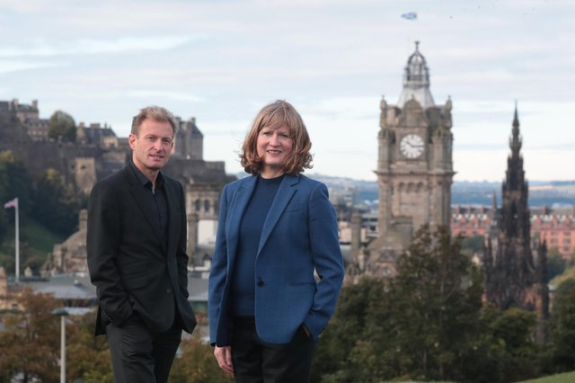 Alan Wise and Clare Wareing of Edinburgh-based Cumulus Oncology. Picture: Stewart Attwood
