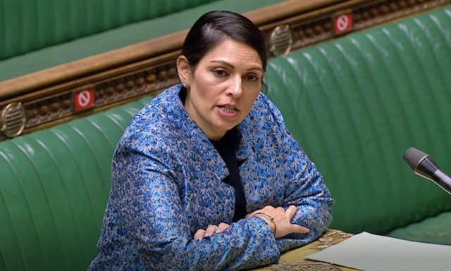 Priti Patel is believed to want to change the law so migrants can be sent to a third countryto await being returned to their home nation or the safe country they arrived from.