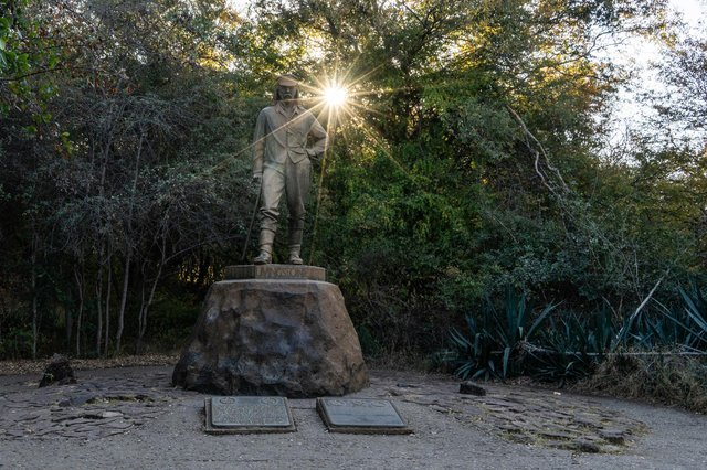 A statue of David Livingstone near Victoria Falls in Zimbabwe (Picture: Zinyange Auntony/AFP via Getty Images)