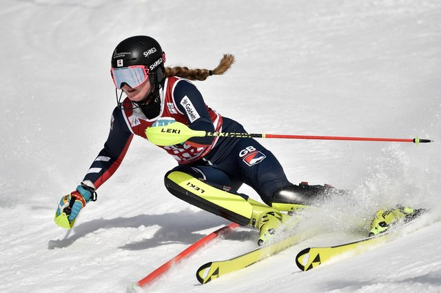 Charlie Guest recorded a career-best 16th place finish in the World Cup slalom at Are, Sweden, last Saturday. Picture: Jonas Ericsson/Agence Zoom/Getty Images