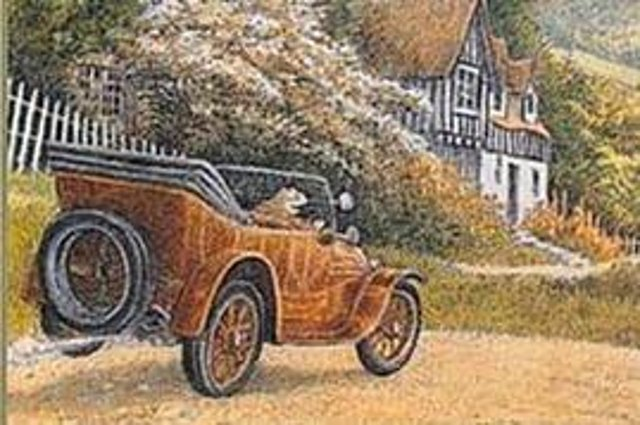 An image from the front cover of The Adventures of Mr Toad by Kenneth Grahame