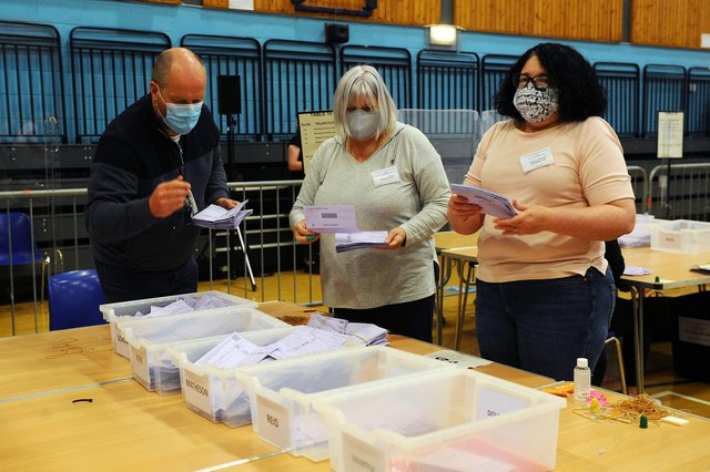 Counting takes place in the Central Scotland list region. Picture: Michael Gillen