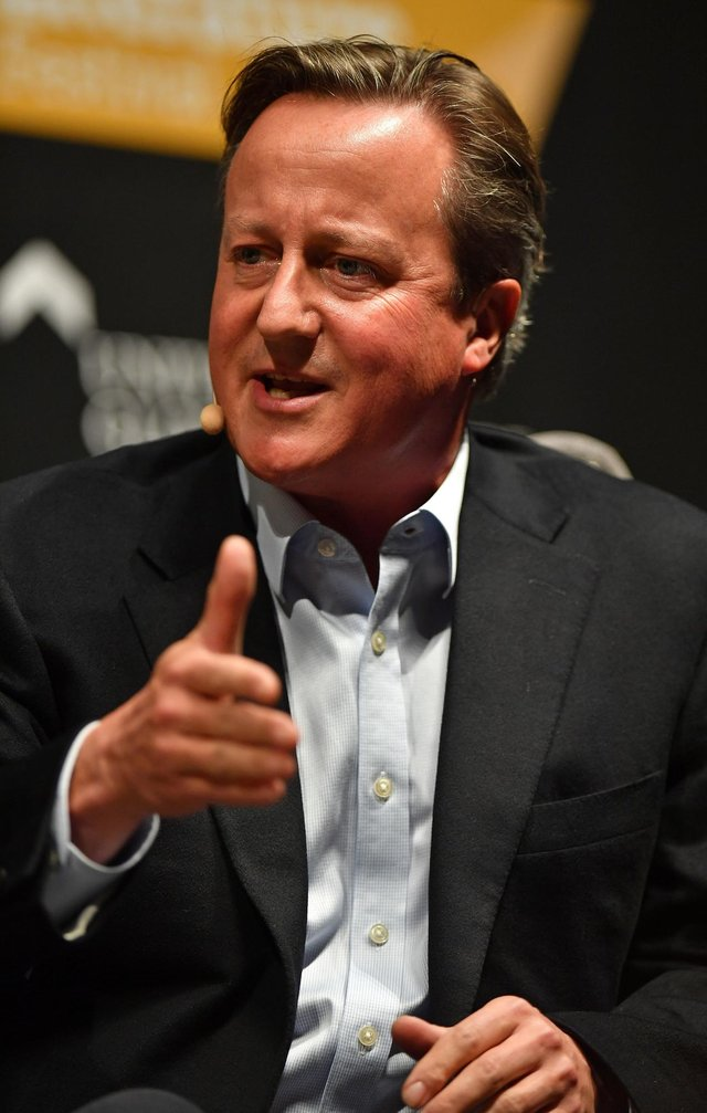 Former prime minister David Cameron is at the heart of concerns over the Greensill lobbying saga. Picture: Jacob King/PA Wire