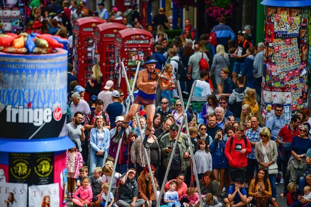 The Fringe attracted a record audience of more than three million in 2019. Picture: Jeff J Mitchell/Getty Images