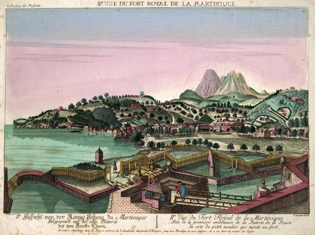 An 18th Century sketch of Martinique, where around 150 Jacobite prisoners were freed after their ship, which was on its way to Antigua, was intercepted by French privateers. PIC: Creative Commons.