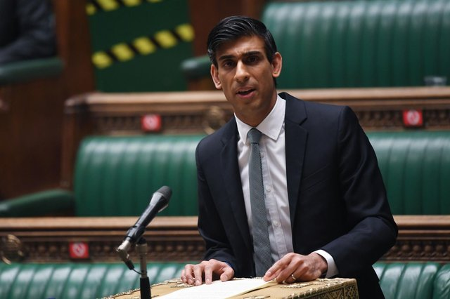 Chancellor of the Exchequer Rishi Sunak delivering his Budget to the House of Commons in London. Picture: UK Parliament/Jessica Taylor/PA Wire