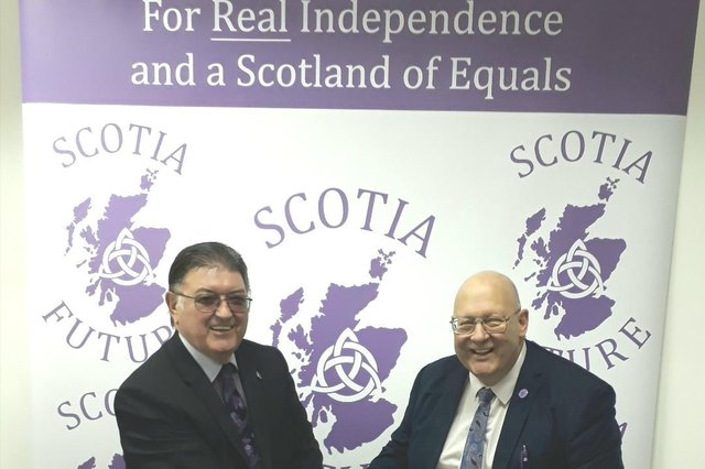 Former Nationalist MSP Chic Brodie. left, and Andy Doig