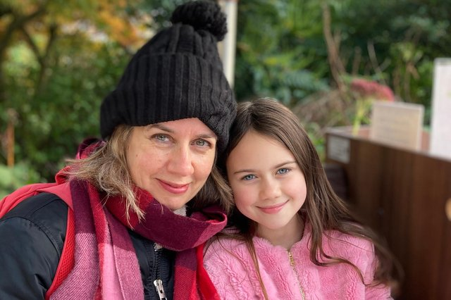 Ciara MacLaverty and her daughter Tess. Picture: Jude MacLaverty