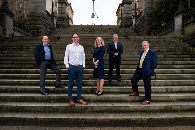 Some members of the team at Russell & Russell, the Glasgow-based chartered accountant, tax and business adviser.