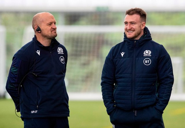 Scotland coach Gregor Townsend has picked Stuart Hogg at stand-off to face Italy. Picture: Craig Williamson/SNS