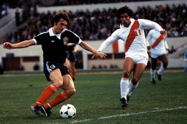 El delantero Joe Jordan anotó el primer gol de Escocia en la Copa del Mundo de 1978 contra Perú, pero el partido no fue una experiencia feliz para los escoceses, que recibieron un pase en Hampton.