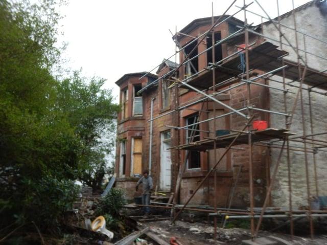 Jameswood Villa had been left derelict. Pic: whathavewedunoon.co.uk