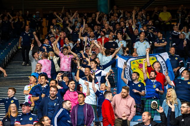 Fans were back at Hampden Park for the Euro 2020 matches. (Photo by Craig Williamson / SNS Group)