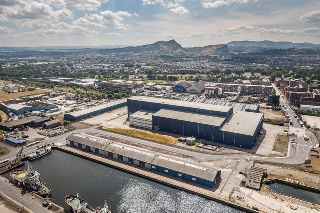 The new First Stage Studios complex has been created at the former Pelamis wave power plant in Leith Docks. Picture: Liam Anderstrem