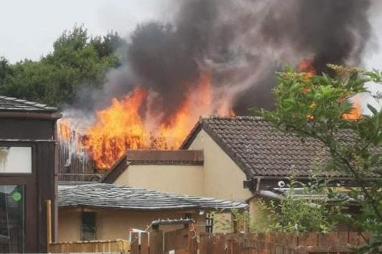 The fire was reported earlier this afternoon. Picture: Fife Jammer Locations