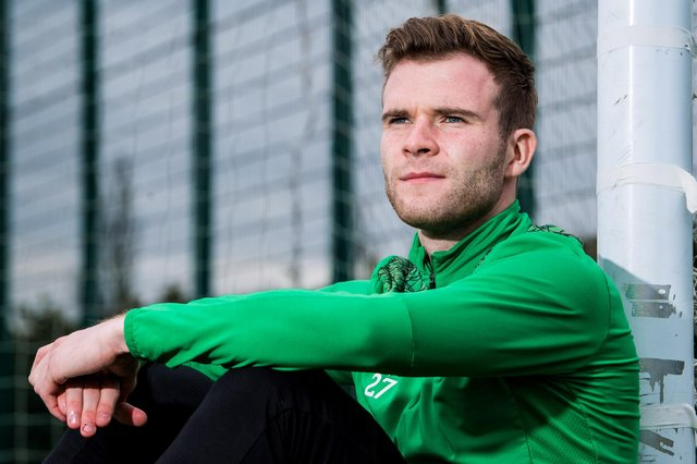 Chris Cadden is hoping to help Hibs over the finishing line as the league season edges closer to what he hopes will be a satisfying conclusion. Photo by Ross Parker / SNS Group