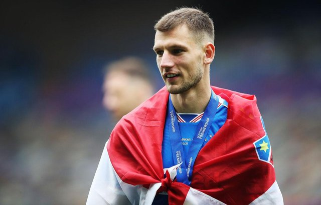 Borna Barisic of Rangers is seen during the Scottish Premiership match between Rangers and Aberdeen on May 15, 2021 in Glasgow, Scotland.  (Photo by Ian MacNicol/Getty Images)