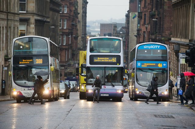 The Poverty Alliance recommends expanding free bus travel to all under-25s and those receiving low-income benefits in Scotland (Photo: John Devlin).