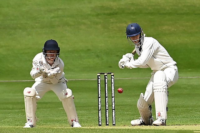 Chris Aitchison keeps his eye on the ball batting for Heriot's against RH Corstorphine. Picture: John Devlin