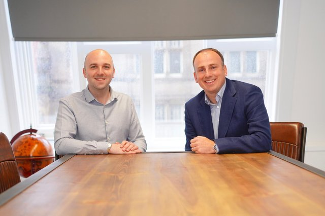 From left: co-founders Iain Wilcox and Grant Fraser. Picture: contributed.