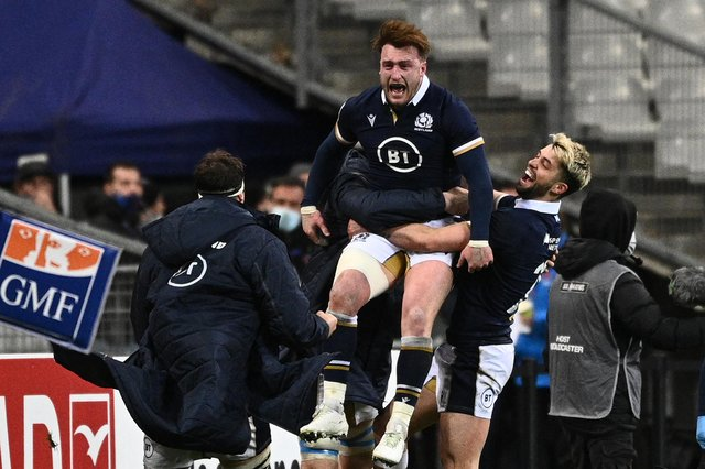 Scotland full-back and captain Stuart Hogg has been widely touted for Lions selection. Picture: AFP via Getty Images