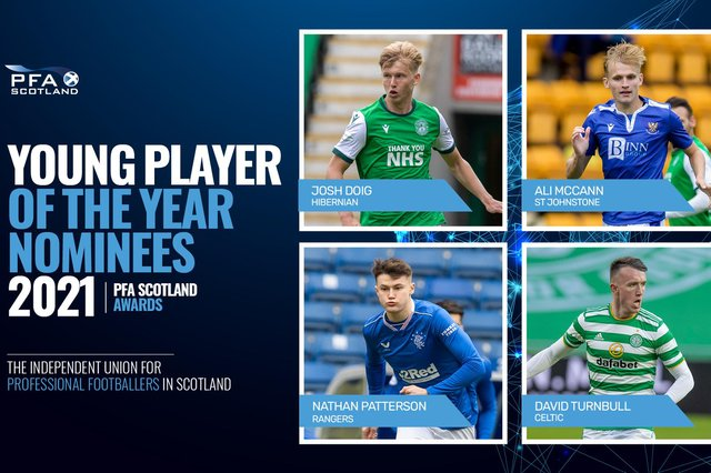 The PFA Scotland Young Player of the Year award nominees. Picture: PFA Scotland