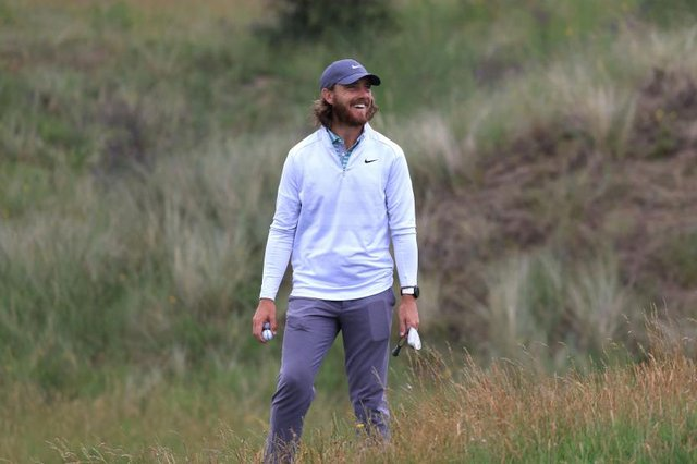 Tommy Fleetwood during a practice round ahead of the 149th Open at Royal St George's in Kent. Picture: Chris Trotman/Getty Images.