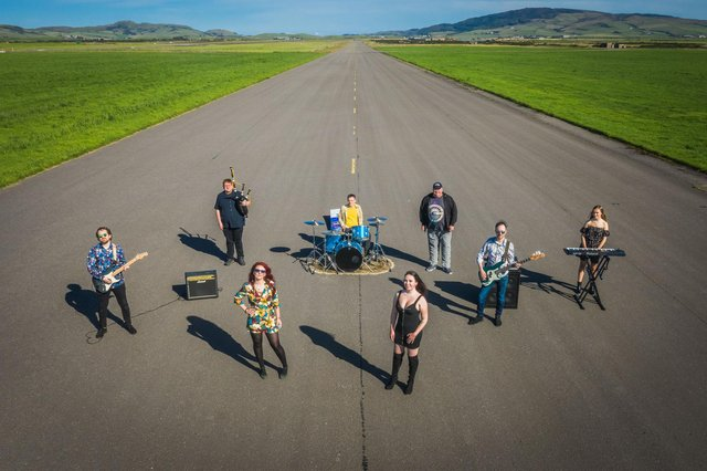 The Slainte Davaar Allstars recorded their version of David Bowie's 'Space Oddity' at Machrihanish Airbase, near Cambeltown.