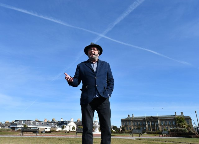 George Galloway on the campaign trail in South Scotland.
