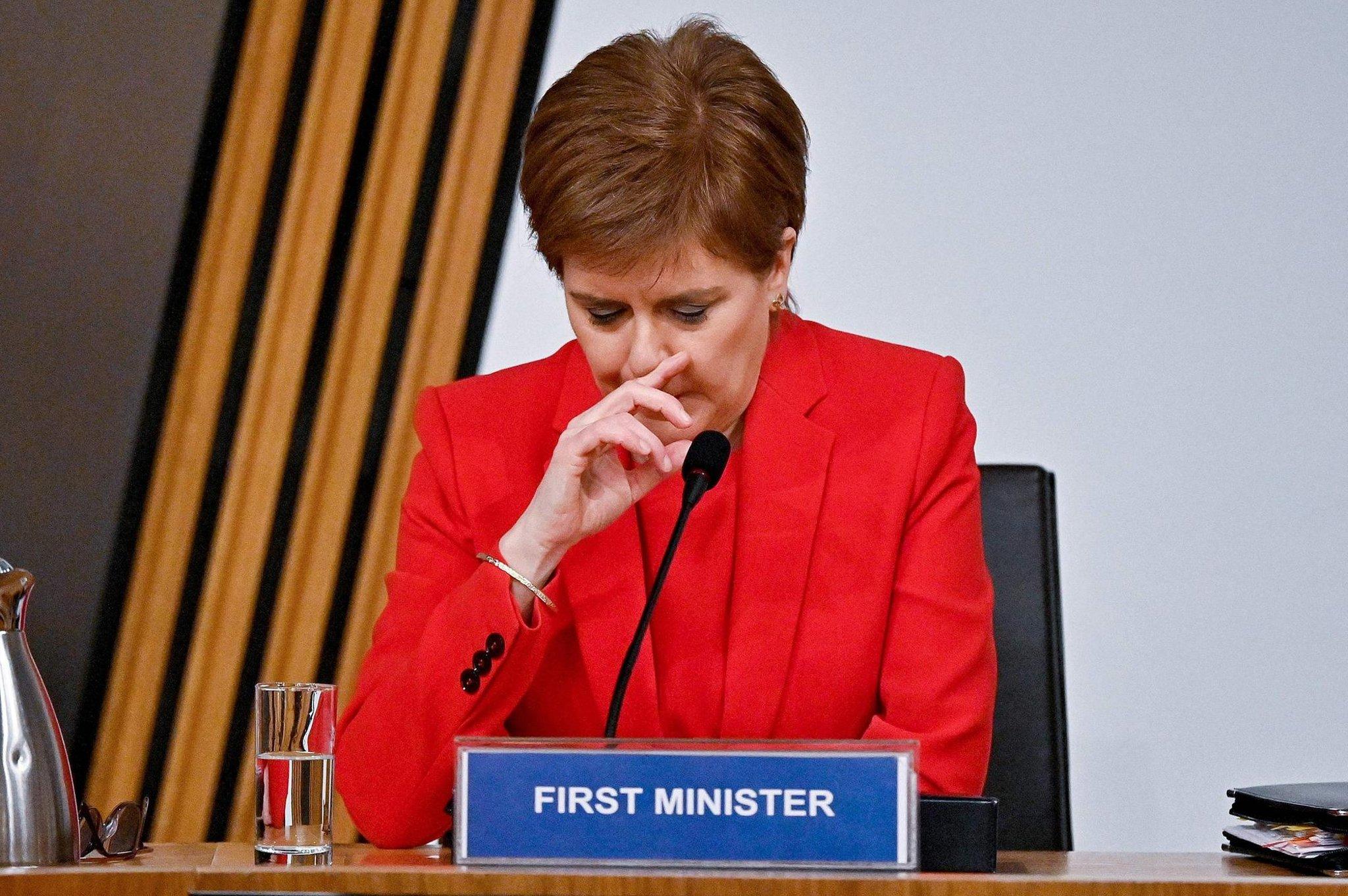 Colour: Nicola Sturgeon wears heart on sleeve before Alex Salmond inquiry
