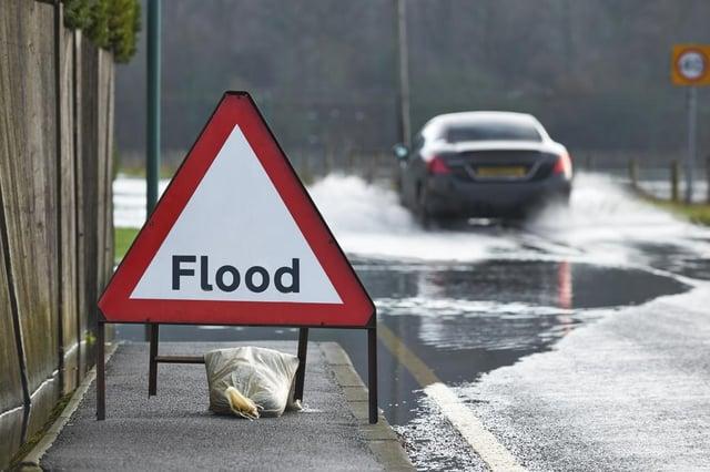 Flooding and heavy rain creates extra hazards for drivers