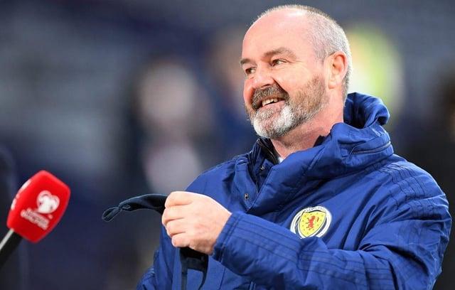 Schotland-coach Steve Clark.  (Foto door Andy Buchanan / AFP via Getty Images)