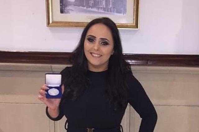 South Lanarkshire College student Laura Lanni